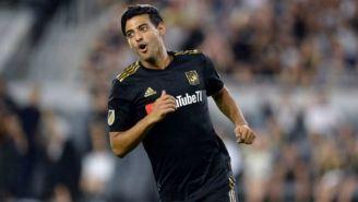 Carlos Vela festeja un gol con LAFC
