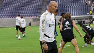 Zinedine Zidane dirige una sesión del Real Madrid