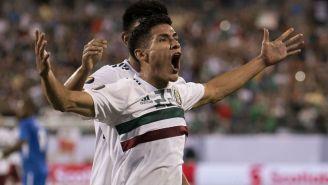 Antuna festeja gol con el Tri en Copa Oro