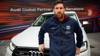 Lionel Messi recibió un automóvil Audi SQ7