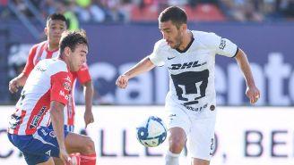 Juan Pablo Vigón en el partido contra Atlético San Luis