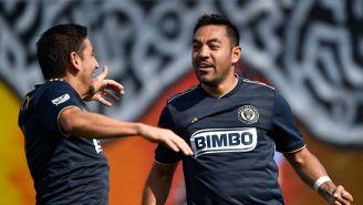 Marco Fabián durante un juego de la MLS