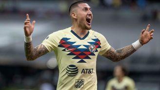 Nico celebra uno de sus goles contra Monterrey