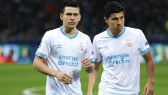Lozano y Gutiérrez, previo a un partido de PSV