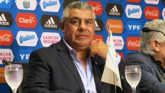 Claudio 'Chiqui' Tapia, durante una asamblea en Buenos Aires