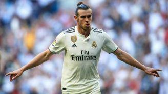Bale festeja anotación con el Real Madrid