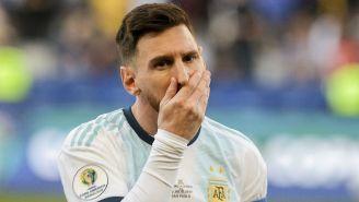 Lionel Messi en lamento tras expulsión ante Chile