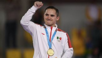 Fabián de Luna, con su medalla de Oro conquistada en Lima 2019