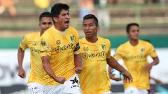 Aldo Polo festeja su gol vs Atlante en la J1 de la Copa MX