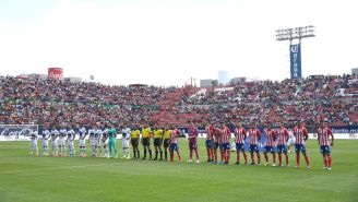 Perspectiva desde el campo del estadio Alfonso Lastras