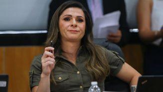 Ana Guevara durante su comparecencia ante la Comisión del Deporte