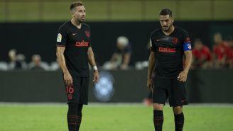 Jugadores del Atlético de Madrid durante un partido