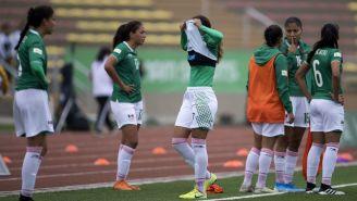 Jugadoras del Tri Femenil se lamentan tras igualar con Colombia