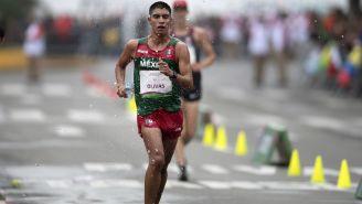 Andrés Olivas durante la carrera de 20 kilómetros