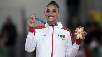 Karla Díaz, con su medalla de bronce