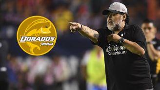 Maradona cuando dirigía a Dorados de Sinaloa
