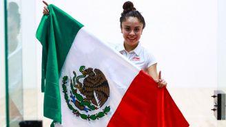 Paola Longoria tras conquistar el Oro en Panamericanos