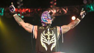 Rey Mysterio Jr. durante una lucha en WWE
