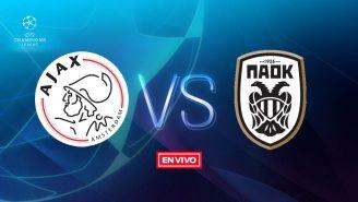 EN VIVO y EN DIRECTO: Ajax vs PAOK