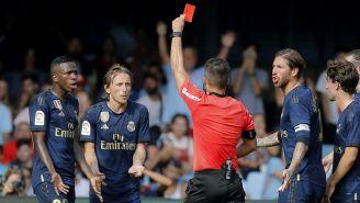 Modric recibe tarjeta roja contra Celta de Vigo