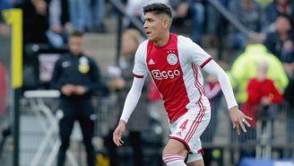 Edson Álvarez, en su primer juego en la Eredivisie con el Ajax