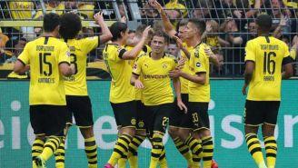 Jugadores del Borussia, en festejo de gol