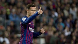 Coutinho durante un partido con Barcelona