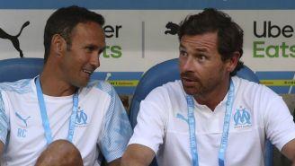 Ricardo Carvalho y André Villas-Boas en el banquillo del Marsella