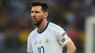 Messi, durante un partido de Argentina