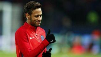 Neymar durante una práctica con el PSG