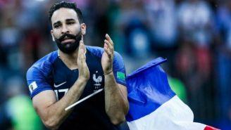 Adil Rami, en un partido con la selección francesa