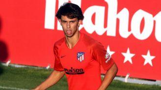 Joao Félix en una práctica con el Atlético de Madrid