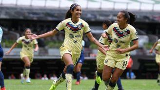 Daniela Espinosa, festeja gol ante Morelia