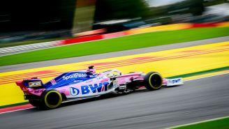 Checo Pérez en el Gran Premio de Bélgica