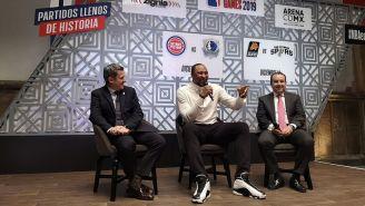 La conferencia sobre los juegos de NBA México