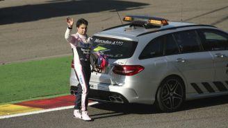 Checo Pérez, durante una carrera