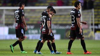 Jugadores del Veracruz se lamentan por la última derrota ante Morelia