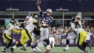 Brady, durante el partido ante Steelers