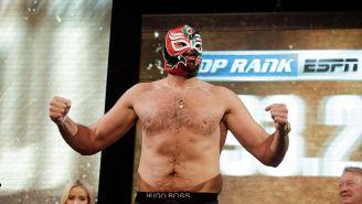 Tyson Fury durante el pesaje previo a la pelea