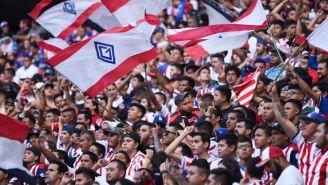 Aficionados de Chivas en el estadio