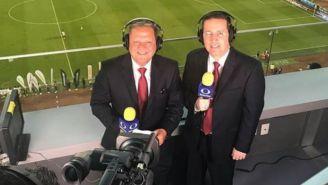 Mario Castillejos y Antonio Nelli durante una transmisión