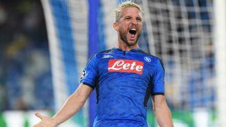 Dries Mertens celebra un gol del Napoli