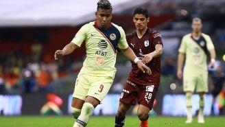 Roger Martínez anotó en la más reciente visita de Gallos al Azteca