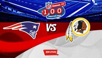 EN VIVO Y EN DIRECTO: Patriots vs Redskins