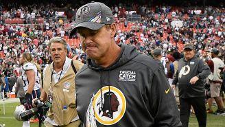 Jay Gruden reacciona tras perder un partido con Redskins
