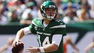 Sam Darnold, en un partido con los New York Jets