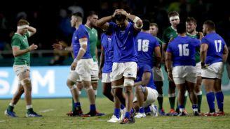 Jugadores de Samoa se lamentan tras derrota