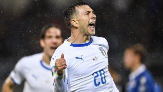 Bernardeschi festeja su gol ante Liechtenstein