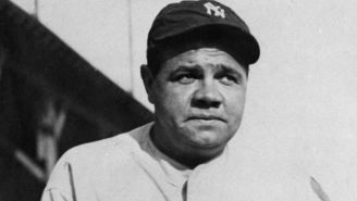 Babe Ruth previo a un choque de los New York Yankees
