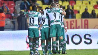 El festejo del gol de Hugo Rodríguez